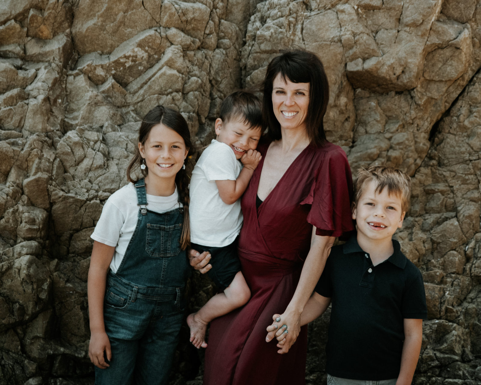 Photographer Diana Hinek with her three children on Mother's Day 2018