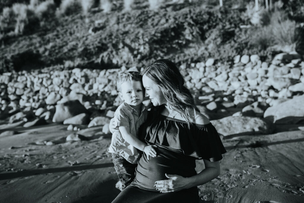 Sunset Belly Session in Malibu, California by Los Angeles Birth photographer and Doula Diana Hinek in Santa Monica, California